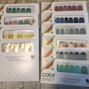 Color street bundle of 10 never opened
